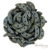 Matte Iris Brown - 20 Stück - Crescent Perlen (21115JT)