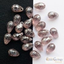 Chalk White - 1 pc. - Pressed Drop, size: 8x11 mm
