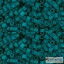 Transparent Frosted Teal - 10 g - 1.5mm TOHO Cube beads (7BDF)