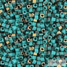 HYBRID Apollo Frosted Turquoise - 10 g - 1.5 mm Toho Cube, kocka gyöngy (Y857F)