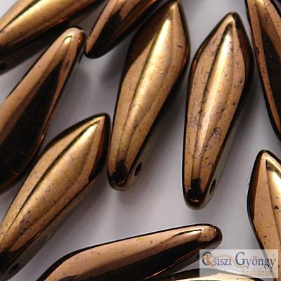Dark Bronze - 1 db - szirom gyöngy 5x16 mm (14415)