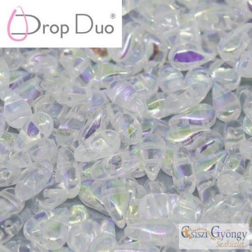 Crystal AB - 20 db - DropDuo gyöngy, 3x6 mm