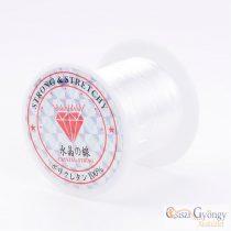 Elastic Fiber Wire - 1 roll - 10 meter/roll, white color, 0.8mm