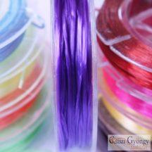 Gumis Damil - 1 tekercs - lila színű, szálátmérő 0.5 mm, kb. 10 méter/tekercs