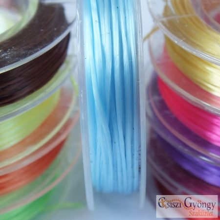 Elastic Fiber Wire - 1 Roll - light blue, 0.8mm, about 10 meter/roll