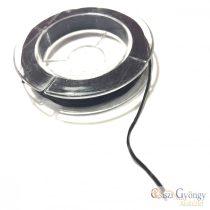 Gumis Damil - 1 tekercs - fekete, 0.8mm, kb. 10 méter/tekercs