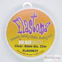 Elastoma, jó minőségű gumis damil, színtelen, szálátmérő: 0,8 mm, 25 méter