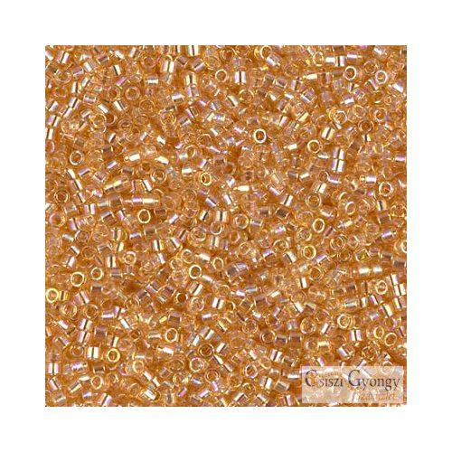 0100 - Transparent Amber AB - 5 g - 11/0 Delica gyöngy