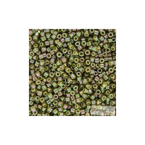 0133 - Luster Rainbow Oliva - 5 g - 11/0 delica gyöngy