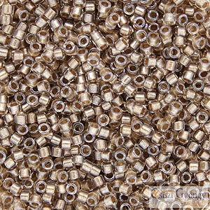 0907 - Sparkling Beige Lined Crystal - 5 g - 11/0 delica gyöngy