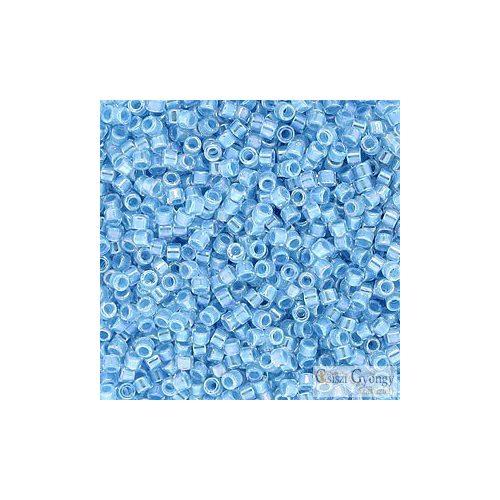 0057 - Crystal AB Lined Sky Blue - 5 g - 11/0 Miyuki Delica gyöngy