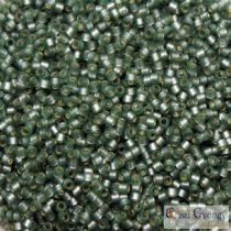 0689 - Semi Matte Silver Grey Moss Green - 5 g - 11/0 delica gyöngy