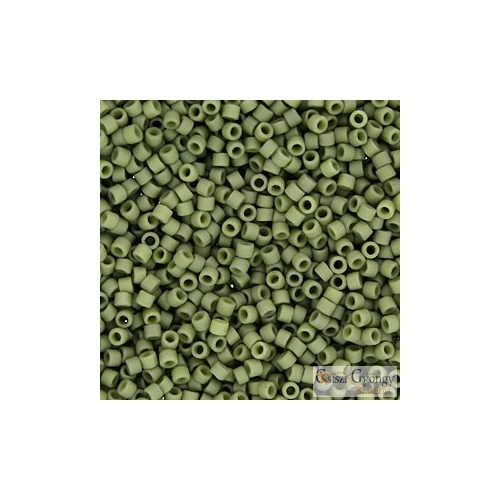 0391 - Telt, matt olajzöld - 5 g - 11/0 Miyuki Delica gyöngy