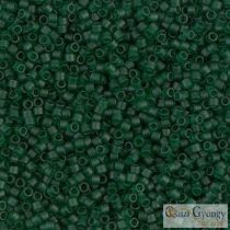 0767 - Matt, áttetsző sötétzöld - 5 g - 11/0 Miyuki Delica gyöngy