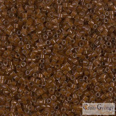1393 - Dark Topaz Lined Amber - 5 g - 11/0 Miyuki Delica gyöngy