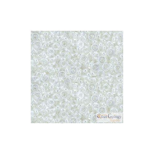 Transparent Luster Crystal - 5 g - 8/0 Demi Round gyöngy (101)