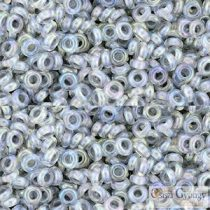 I.C. Rainbow Crystal Gray Lined - 5 g - 8/0 Demi Round Beads (261)