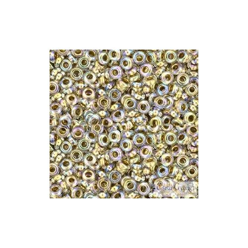 Gold Lined Rainbow Crystal - 5 g - 8/0 Demi Round (994)