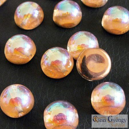 Crystal Copper Rainbow - 1 db - Dome gyöngy 10x6 mm