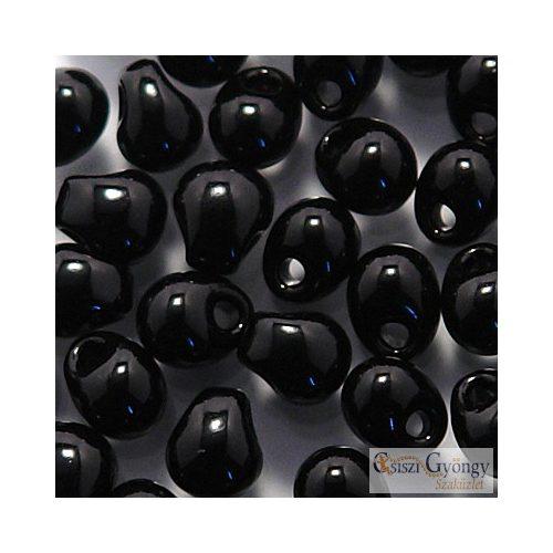 Opaque Black - 5 g - Miyuki Drop, mérete: 3.4 mm