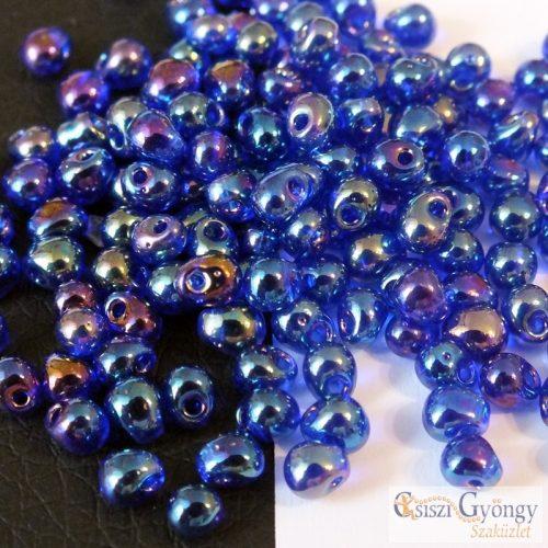 Transparent Cobalt AB - 5 g - Miyuki Drop gyöngy, 3,4mm (9177)