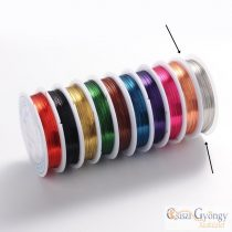 Silver color - 1 Roll (1ca. 10 meters) - Jewelry Wire, size: 0.4 mm