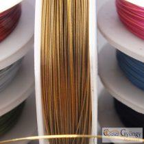 Réz színű - 1 tekercs (10 méter) - tigrisbajusz sodrony, méret: 0.38 mm