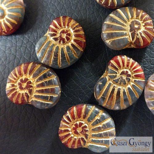 Snail - 1 pcs - glass bead, size: 17x13mm