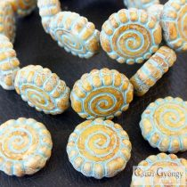 Spiral - 1 pcs. - Czech glass bead 16 mm