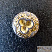 Purple/Bronze Disk - 1 pcs. - Czech Glass Beads , size: 18 mm
