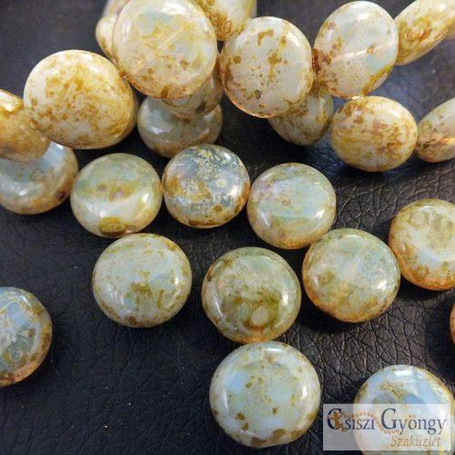 Lentil - 1 pcs. - 10 mm, Czech Glass Bead