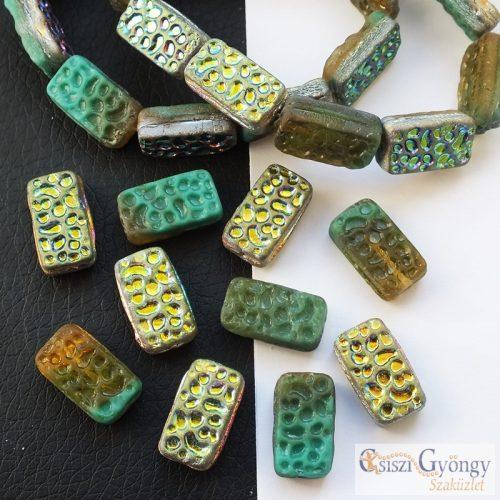 Vitrail Rectangle - 1 pcs. - 16x9 mm glass bead