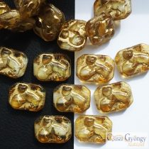 Topaz Cat - 1 pcs. - 22x16 mm glass bead