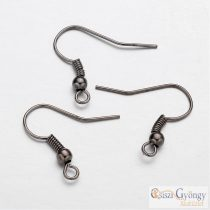 Fekete fülbevaló akaszto - 10 db (5 pár) - mérete: 18 mm (Nikkel mentes)