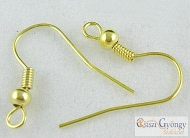 Fülbevaló akasztó - 10 db (5 pár) - arany színű, mérete: 18mm (Nickel mentes)