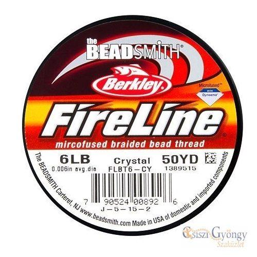 FireLine Crystal - 1 tekercs - 6 LB, átmérő: 0,15 mm, hossza: kb. 45.7 méter