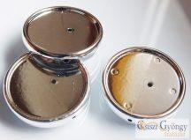 Foglalt - 1 db - fűzhető, 18 mm kabosonhoz, ezüst színű