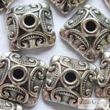 Piramis - 10 db - antik ezüst színű gyöngykupak 10x10 mm