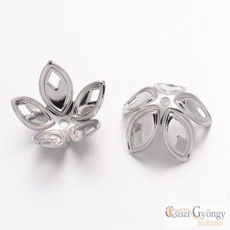 Gyöngykupak - 1 db - ezüst színű, hajlítható, mérete: 18x8 mm