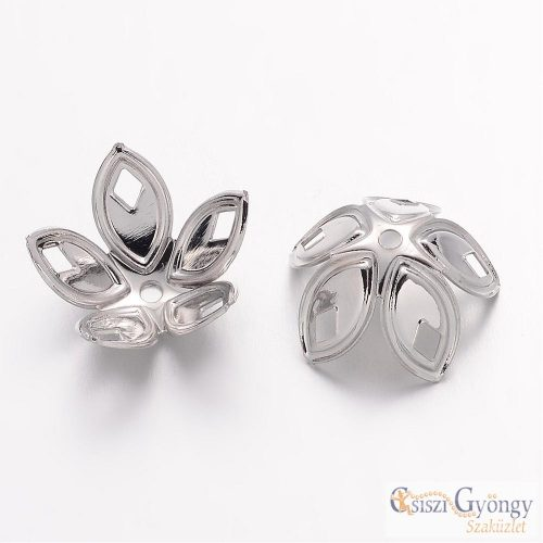 Bead Cap - 1 Stück - Silber Farbe, Grösse: 18x8 mm