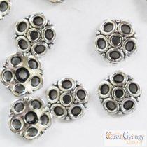 Gyöngykupak - 20 db - antik ezüst színű, méret: 8 mm