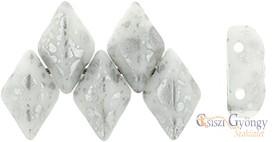 Silver Splash White - 5 g - Gemduo gyöngy 8x5mm