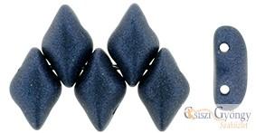 Metallic Suede Dk. Blue - 5 g - Gemduo gyöngy 8x5mm