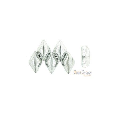 Silver - 5 g - Gemduo gyöngy 8x5 mm