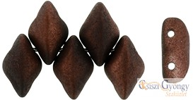 Metalust Matte Burnt Copper - 5 g - Gemduo gyöngy 8x5mm
