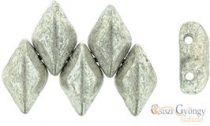 Silver Luster Jet - 5 g - Gemduo Beads 8x5 mm