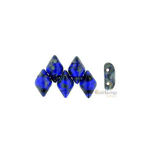 Cobalt Picasso - 5 g - Gemduo gyöngy 8x5 mm (T30090)