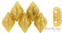 Gold Splash Opaque Ivory - 5 g - Gemduo 8x5 mm