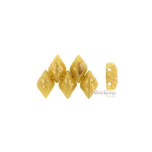 Gold Splash Opaque Ivory - 5 g - Gemduo 8x5 mm