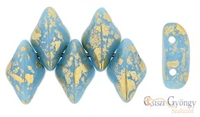 Gold Spalsh Blue Turquoise - 5 g - Gemduo 8x5 mm